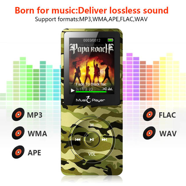 Btsmone new MP3 Player Built-in Speaker and 16G with FM/Radio can play 100h  hifi music Portable Lossless sound Walkman for kids