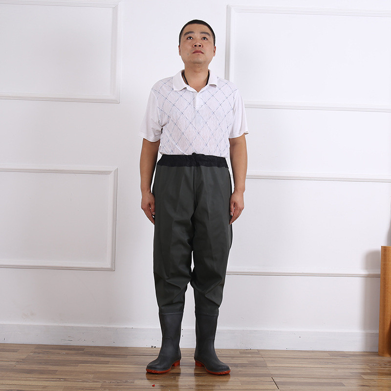 respirável cintura malha tendão único calças de pesca