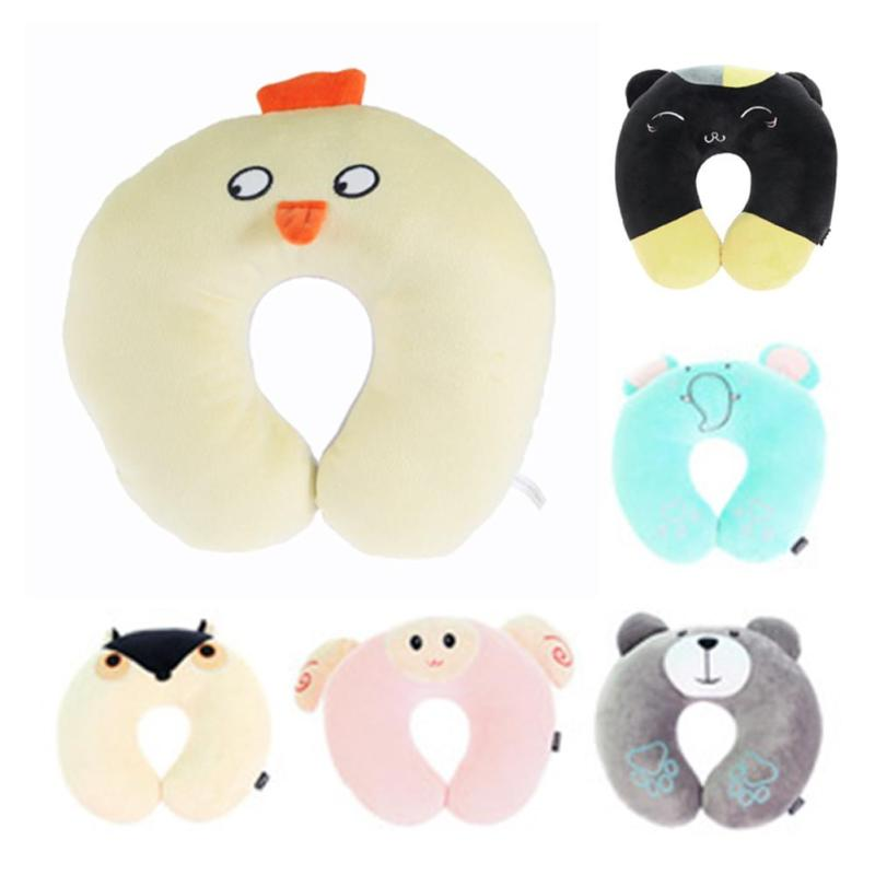 Baby Neck Protection Pillow New Fashion Children Car Headrest Pillow Suit Baby Pillow Cartoon Travel Pillow 2017 XV2