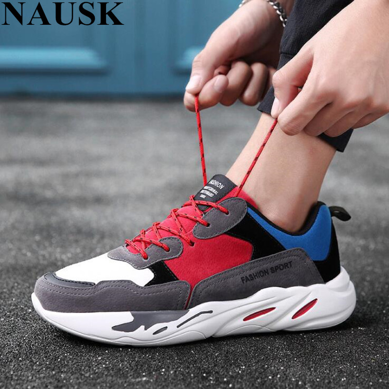 1f0252f89b22f NAUSK Vintage Dad Men Shoes 2018 Kanye West Fashion Mesh Light Breathable  Men Casual Sneakers Zapatos Hombre ...