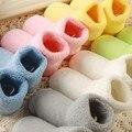 5 pares de um pacote de Algodão Macio Meias 0-2A NewbornWinter Quente Criança Crianças Meninos Das Meninas Do Bebê Confortável Evitar escorregadio