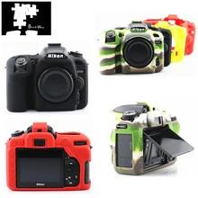 Siliconen Armor Skin Case Body Cover Protector voor Nikon D7500 Body DSLR Camera ALLEEN