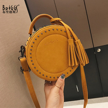 BRIGGS women shoulder messenger bags pu leather crossbody bag ladies small handbags with tassel female leather bag Circular