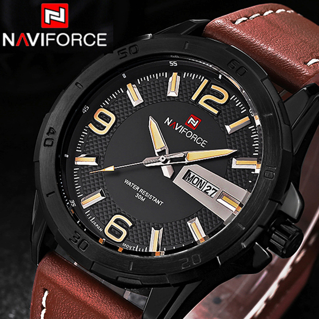 NAVIFORCE Luxury Brand Watches Men Quartz Clock Men Military Sports Watch Casual Wristwatches montre homme relojes hombre 2016