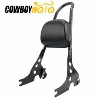 Мотоциклетная Съемная стойка для пассажира спинка сидения подушка для подушки комплект для Harley Sportster 883 1200 XL 2004 более поздняя версия