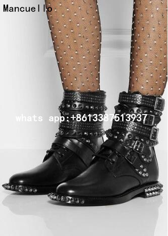 Popular Studded Combat Boots-Buy Cheap Studded Combat Boots lots ...