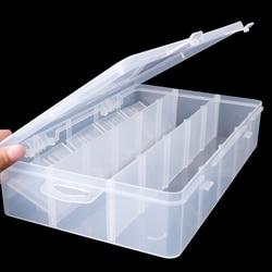 Plastic 15 Grids Electronic Plastic Parts Storage Box Case Organizer Container W215