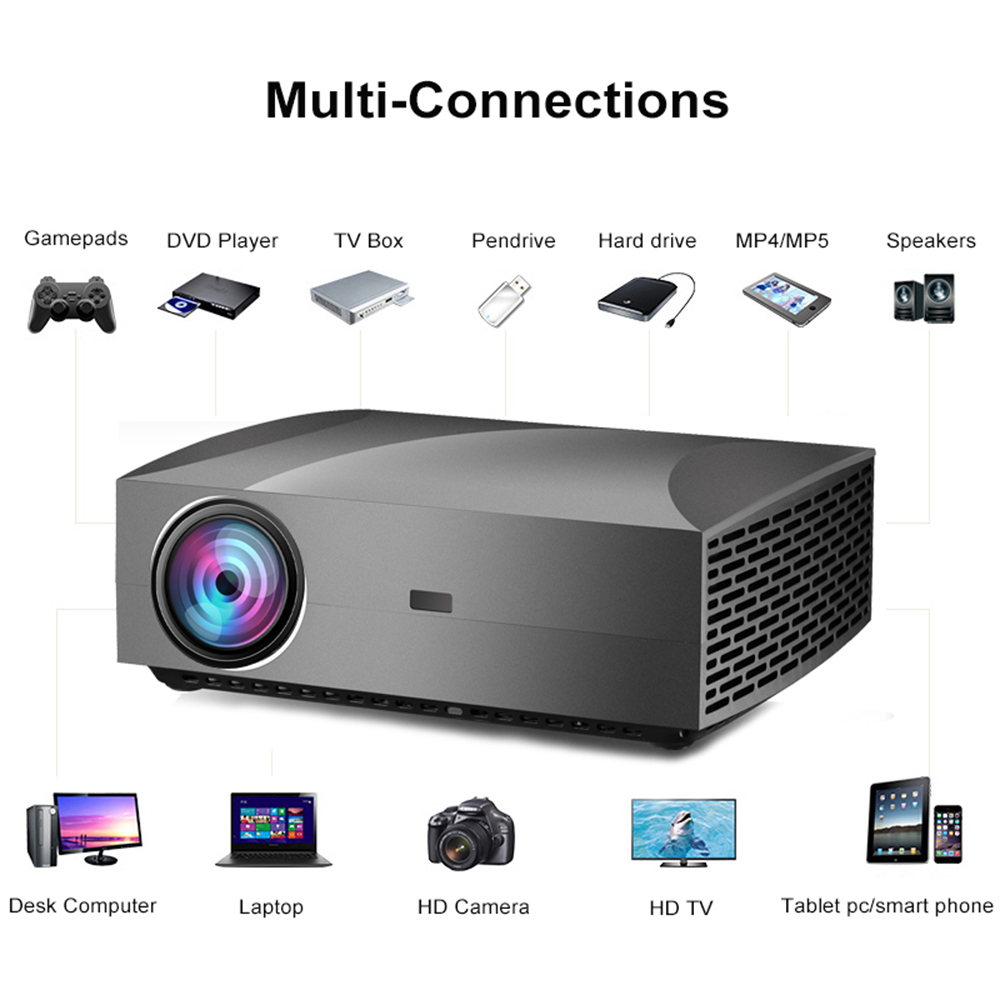 Image 5 - Vivicine F30 1920X1080 Full HD Projector, HDMI USB PC 1080p LED Home Multimedia Video Game Projector ProyectorLCD Projectors   -