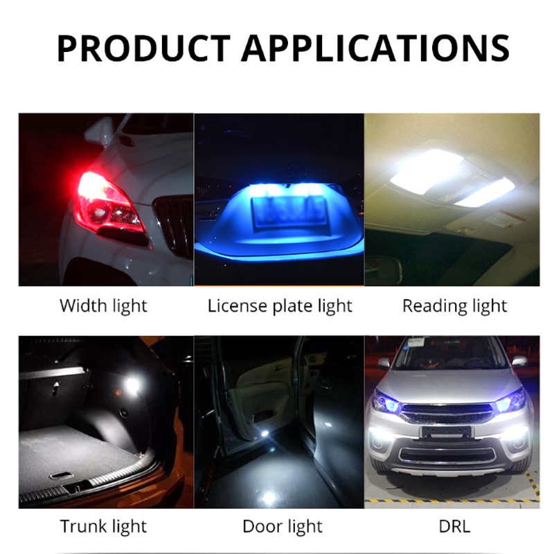 Image 5 - Niscarda 2x T10 W5W RGB LED Bulbs Remote Control COB 18 Silicone Shell Strobe Flash Auto Reading Lamp Car Headlight Light-in Decorative Lamp from Automobiles & Motorcycles