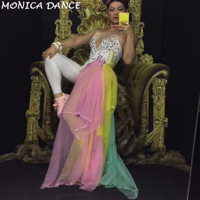 Strass Stretch Danse Body Jumpsuit Dance Chanteuse D'étape Femmes Outfit Coloré En Usage Des Scène Mash Wear Costume Salopette De Parti Rqw8naI