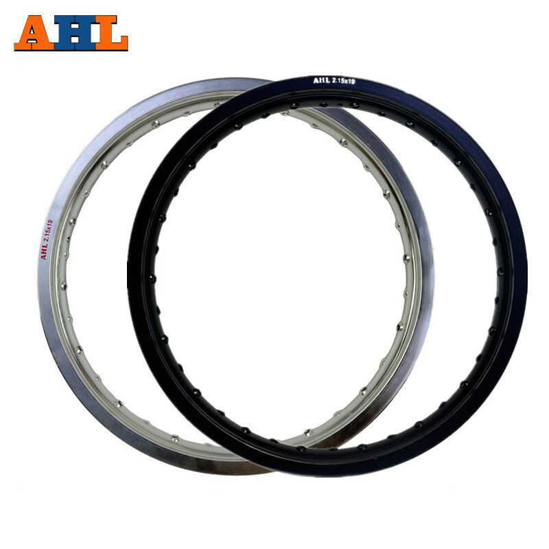 6061 Aviation aluminium 2.15x19 32 36 rayons (argent) 32/36 trous (noir) moto jantes roue cercle trou 215x19 2.15 19 jante