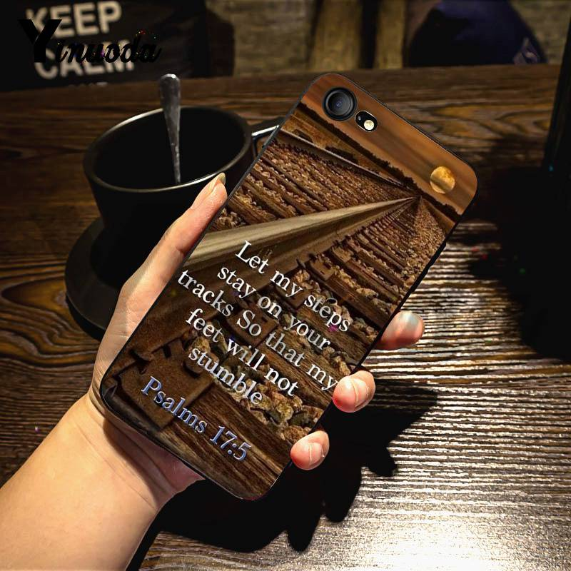 Yinuoda For Iphone 7 6 X Case Bible Verse Philippians Jesus Christ Christian Soft Phone Case For Iphone X 8 7 6 6s Plus X Xs Xr
