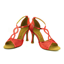 YOVE Dance Shoes Women's Latin/ Salsa Dance Shoes 3.5″ Flare High Heel More color w167-4
