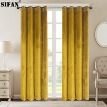 High Shading Velvet Blackout Curtain For Bedroom Living Room Insulating Modern Style Windows Curtain Home Decoration Custom Made cheap Europe Office hotel Cafe Flocked JU100522 Ceiling Installation Left and Right Biparting Open Woven French Window Velvet Fabric