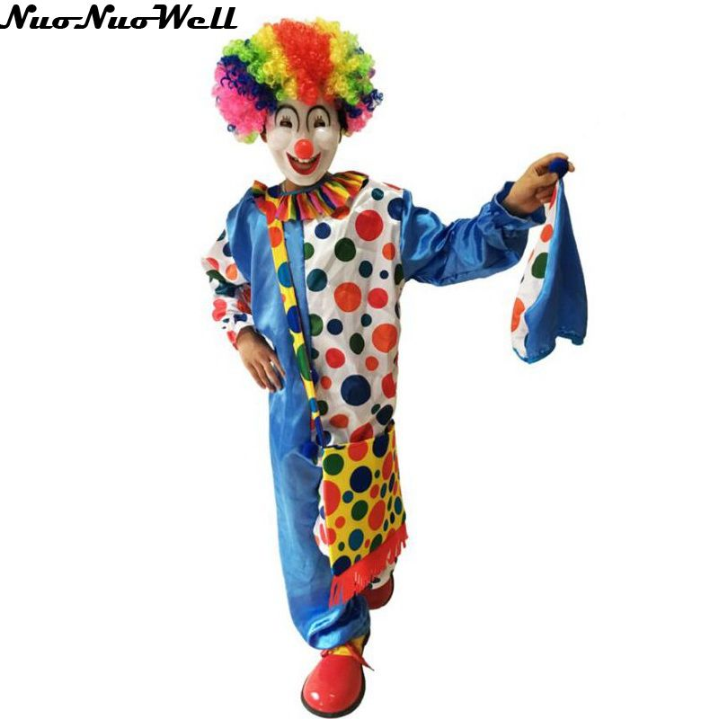 Hot Hallowen Adult Killer Clown Clothe Holiday Variety Funny Clown Costume Joker Costume Cosplay Party Dress Up Christmas