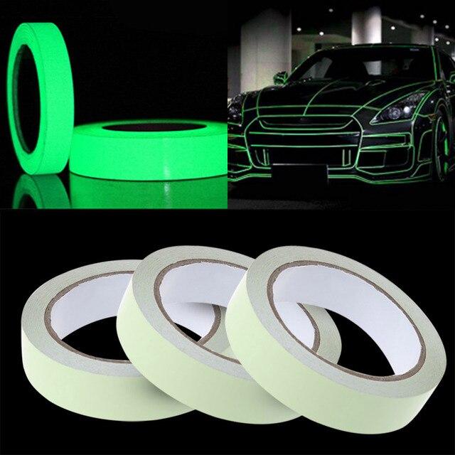 Fita reflexiva Adesivos de Carro Engraçado Decalque DIY Luz De Aviso Luminoso Brilho Noite Escura Fitas Etiqueta do Carro de Segurança-cobre Acessórios