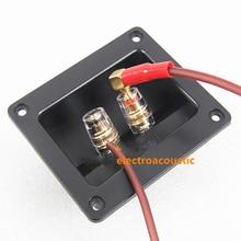 цена на 2pcs/lot Loudspeaker high-end crystal 2 junction box of pure copper column audio enthusiasts DIY accessories f-506 column