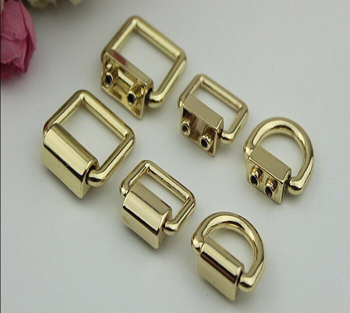 (20 PCS/lot) Metal Plating Processing Straps On Both Sides Of The Button Hook Handbags Decorative Accessories