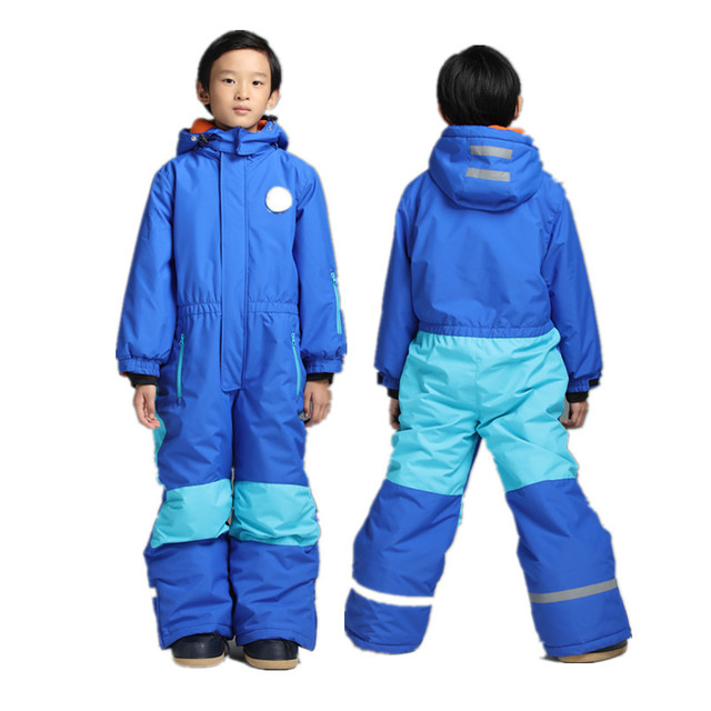 4236fe6ef21b One Piece Ski Suits Kids Winter Ski Suit for Girls Boys Skiing Baby ...