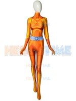 Alex Totally Spies Costume DyeSub 3D Printing yellow Spandex Cosplay Fullbody Zentai Suit For Felame/Lady/Girl/Custom Made