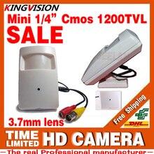 Конус Инфракрасный Датчик 3.7 мм Объектив МИНИ Камеры 1/4 CMOS 1200TVl HD CCTV скрытые Видеонаблюдения Цвет ahdl видео У Кронштейна