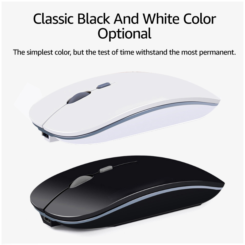Wireless Mouse Computer Bluetooth Mouse Silent PC Mause Rechargeable Ergonomic Mouse 2 4Ghz USB Optical Mice