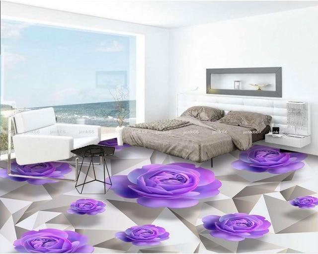 3d floor sfondi rose viola romantico bagno camera da letto 3d ...
