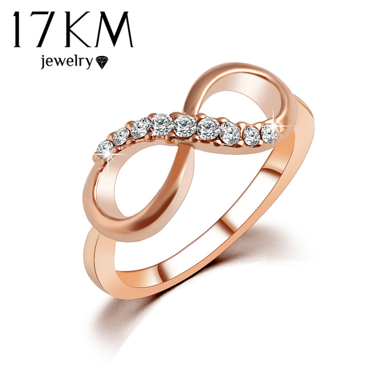 17KM New Hot Best Quality Fashion Alloy Rose Gold Color Jewelry