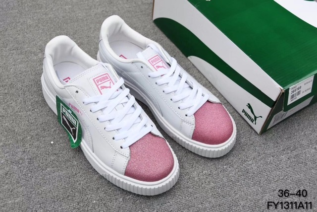 New Arrival 2018 PUMA rihanna Suede Platform creeper Basket Suede Men shoes  and women Sneakers Badminton c7870326b