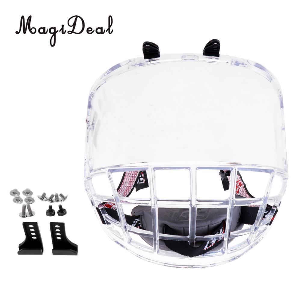 цена на Anti-Fog Anti-Scratch Ice Hockey Helmet Full Face Shield Visor Replacement Team Sports Protective Gear Protection Accessories