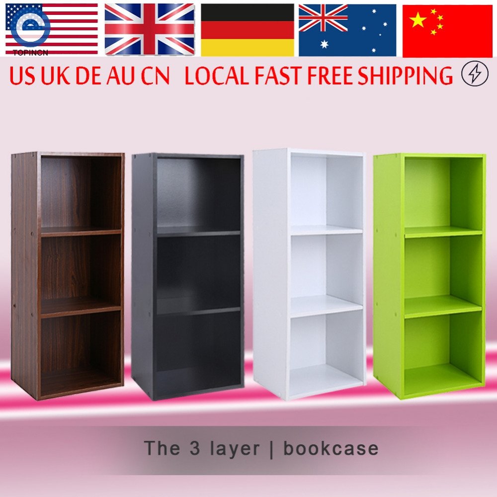 Bookcase Wood Display Shelves Storage Bookshelf 3 Level Tier Bookcase Stand  Rack Unit Cube(Hong - Online Get Cheap Mdf Bookcases -Aliexpress.com Alibaba Group