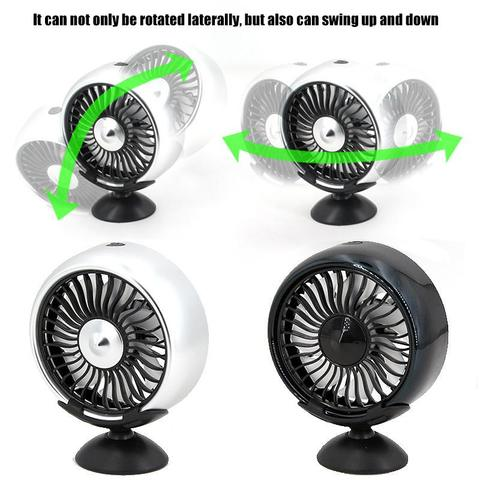 Air outlet /Base mode 360 Degree All-Round Adjustable Car Auto Air Cooling Fan 3 Gears Low Noise Car Auto Cooler Air Fan Multan
