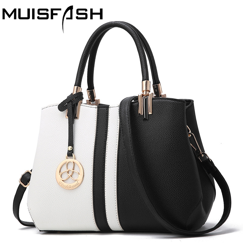 Muisfash Leather Women Handbag 2017 New Fashion Shoulder Bags Casual Cross Body Bag Retro Totes New Arrival Messenger Bag LS1175 new arrival fashion women leather tassels handbag cross body single shoulder bucket bag lady girls vintage messenger bags bolsa