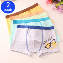 2 Pcs/lot Boys Cute Soft Cartoon Boxers Underwear Underpant Children Comfortable Ventilate Boxer Shorts 2-14T