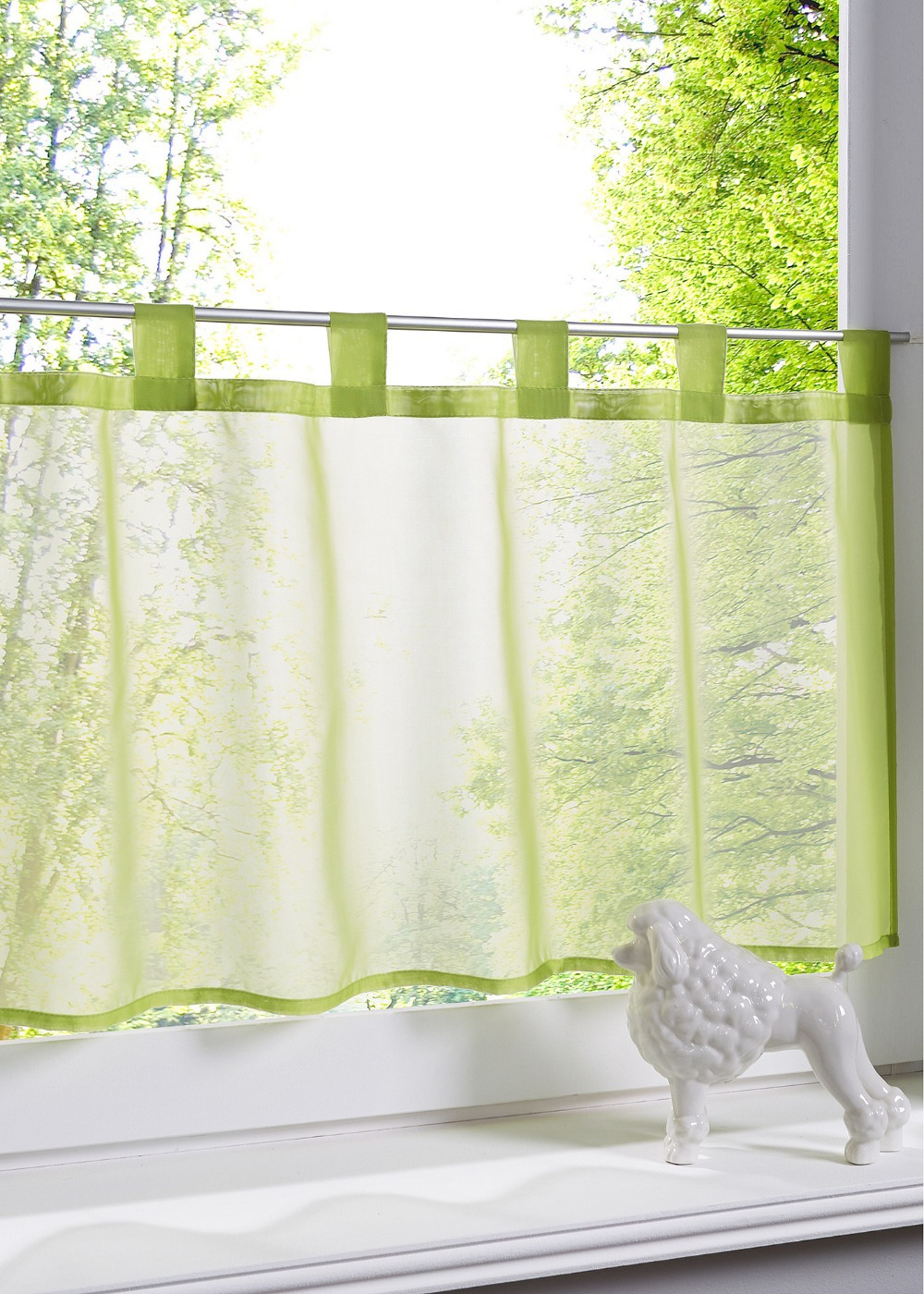 Colored sheer curtains - New European Popular Solid Color Kitchen Balcony Small Sheer Curtain 1pc China Mainland