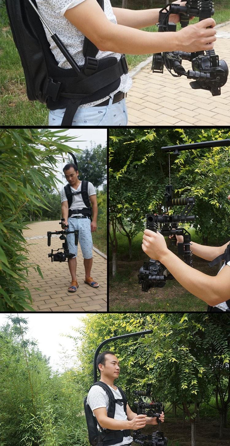 EASYRIG 1-במשקל 8 קילוגרמים לשאת סרט וידאו מצלמות קל הציוד עבור dslr DJI רונין 3 מ 'ציר הנע מייצב ג' ירוסקופ ג ' יירו מייצבת האפוד