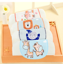 New 3D Original Pure Cotton Gauze Sweat-absorbent Towel Without Fluorescent Agent 4 Layer 32*24cm Childrens Sweat
