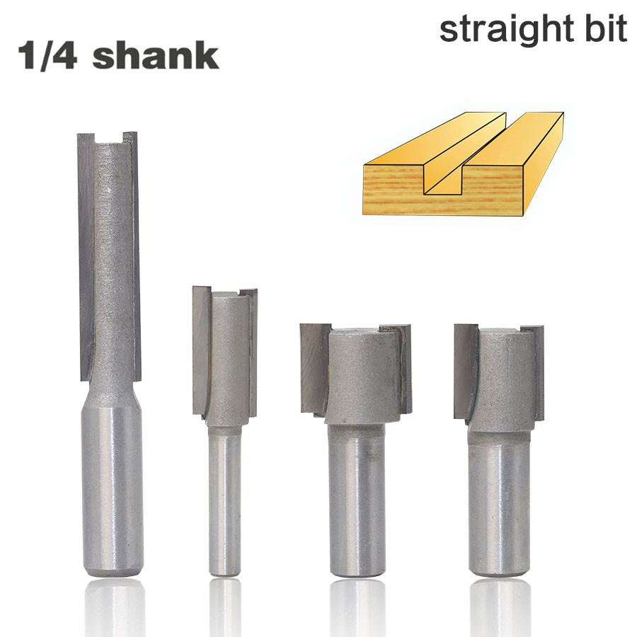 1Pc 6mm Shank Round 1//4 Straight Flute Core Box Router Bit Cutter Woodworking