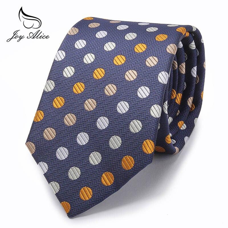 8cm Width Ties For Men's Black Blue Dot Wedding Neck Tie Slim Skinny Male Necktie Polyester Commercial Cravat