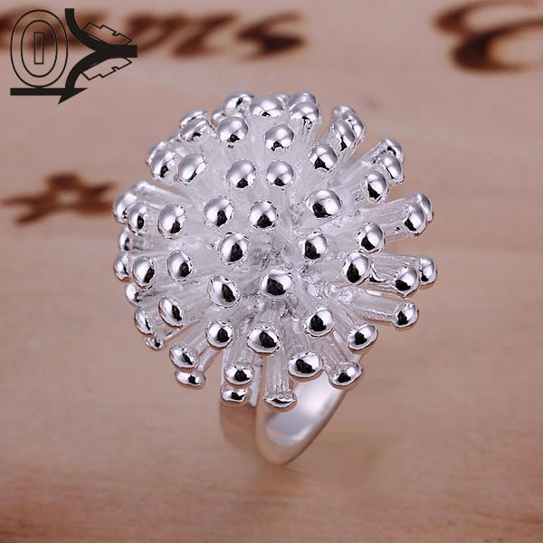 Free Shipping 925 Sterling Silver Ring Fine Fashion Cute Fireworks Jewelry Ring Women Gift Finger Rings SMTR001