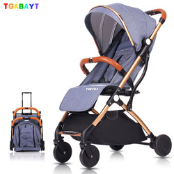 Tgabayt Hoge Landschap Draagbare Lichtgewicht Kinderwagens Opvouwbare Baby Kinderwagen Kinderwagens Kinderwagen kan zitten kan liggen trollery