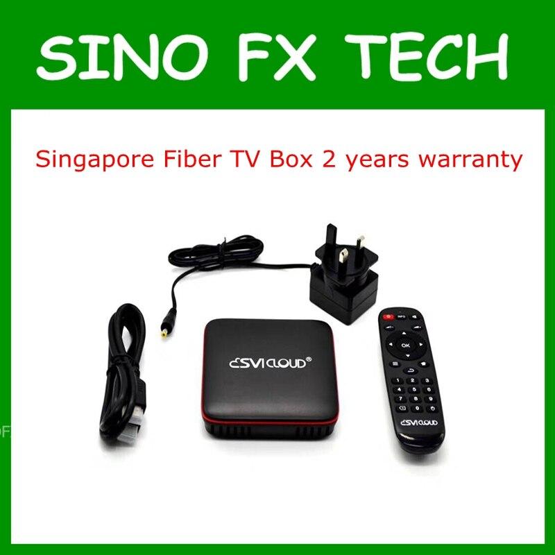 Сингапур волокно ТВ коробка SVICloud UHD IP приставка с CH HK SG мой США Великобритании индийские каналы для Сингапура и Малайзии