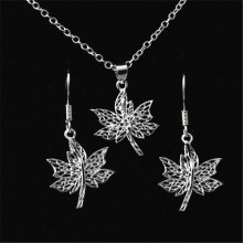 Korean 925 sterling silver earrings necklace new life tree earrings pendant women's set(China)