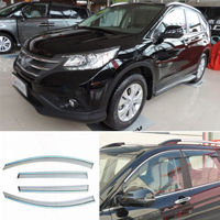 4pcs New Smoked Clear Window Vent Shade Visor Wind Deflectors For Honda CRV