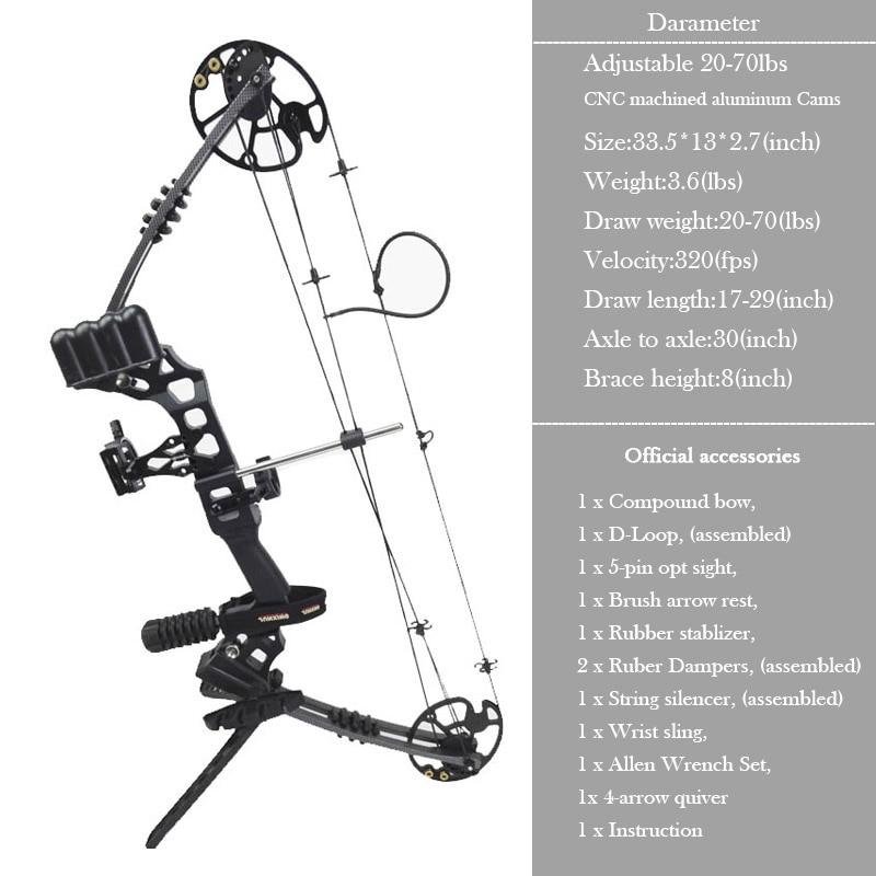 Junxing M120 Arco compuesto para la caza con honda Arco de tiro con - Caza - foto 4