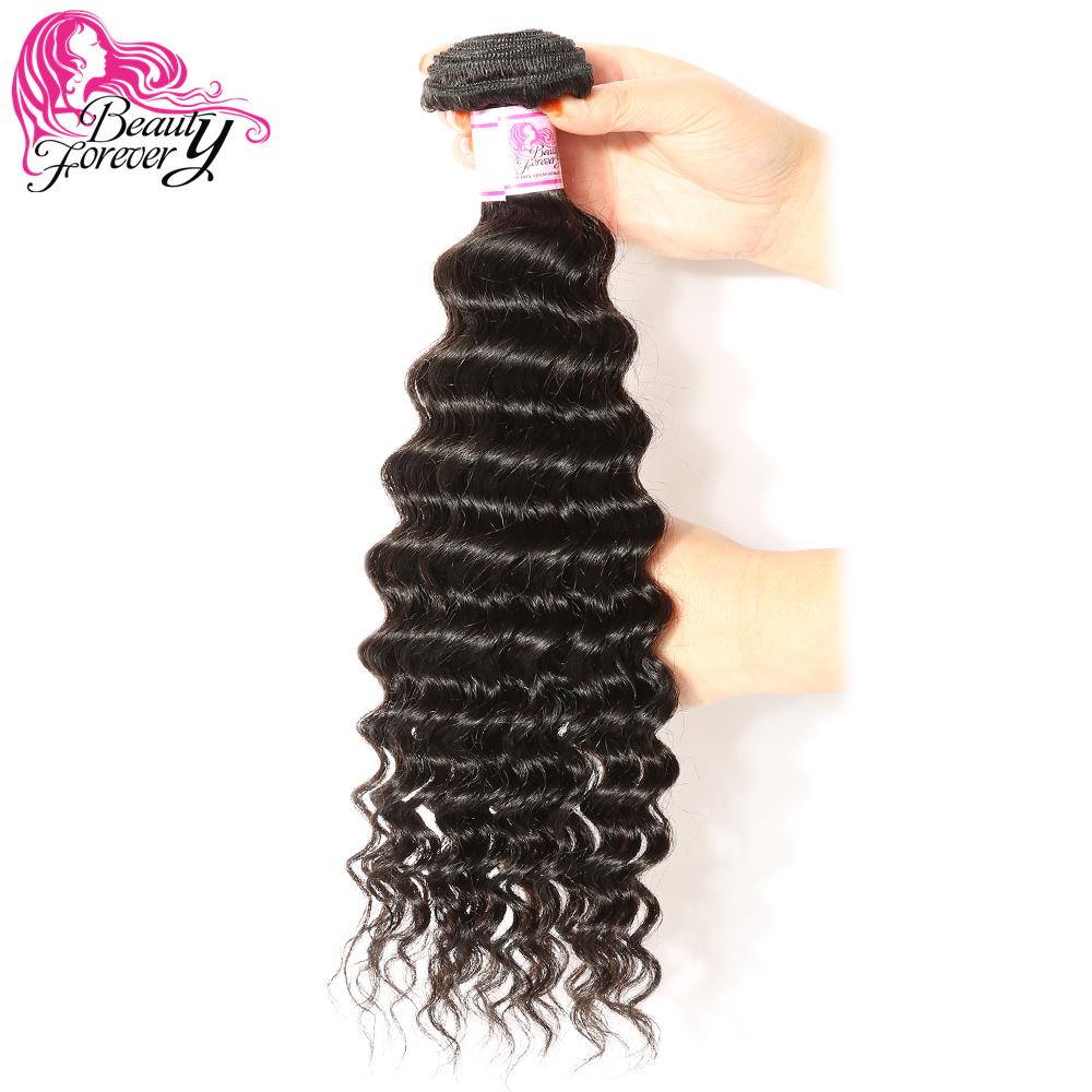 Beauty Forever Malaysian Deep Wave Hair Weaving Remy Hair 100% Human Hair Weave Bundles 1 Piece Natural Color 12-26in