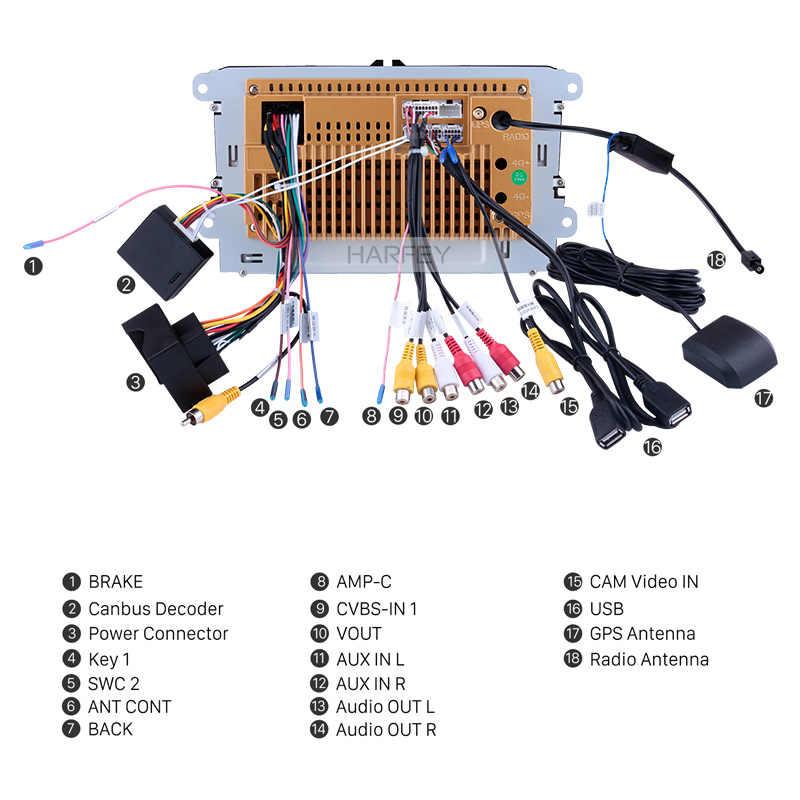 Harfey 2din 9 インチ Gps ナビカーマルチメディアプレーヤーアンドロイド 8.1 オートラジオ/シート/フォルクスワーゲン/ VW/パサート b7/ポロ/ゴルフ 5 6