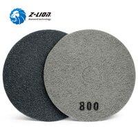 Z LION 17 4pcs Fiber Sponge Polishing Pad Concrete Floor Cleaning & Polishing Wheel Diamond Buffing Disc 400/800/1500/3000 Grit