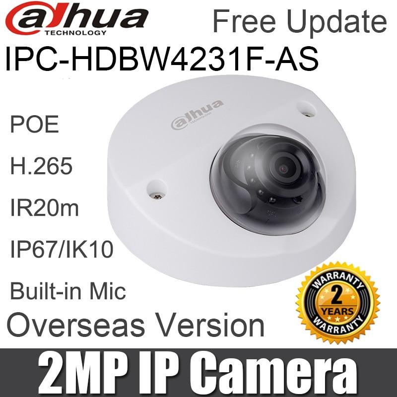 2MP IP caméra IPC HDBW4231F AS IR20m Mini dôme réseau caméra H.265 poe intégré micro SD carte slot caméra de sécurité original-in Caméras de surveillance from Sécurité et Protection on AliExpress - 11.11_Double 11_Singles' Day 1