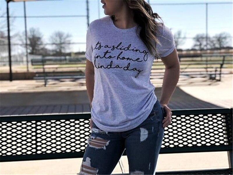 Composite Bats WT0088 Female Recreational style Letter T shirt Baseball Top Tees For Women